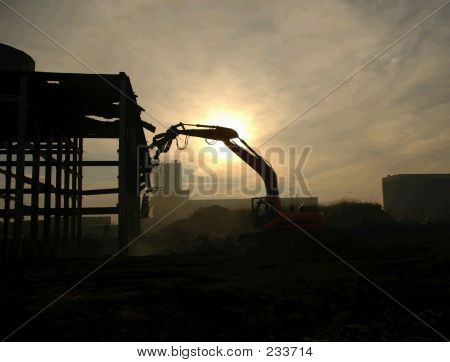 Demolition Digger Silhouette