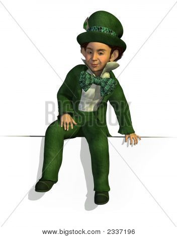Leprechaun Sitting On Edge