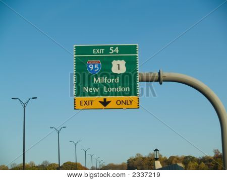Highway Sign In Connecticut
