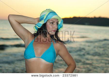 Beauty Woman In Swimsuit