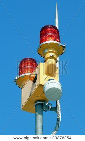 red emergency lights