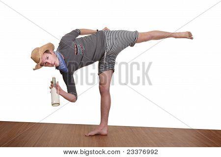 Man Smokes While Exercising