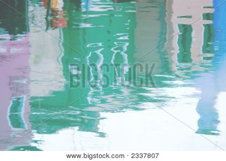 Street Reflection In The Water