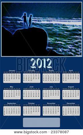 2012 Neon Sea View Calendar