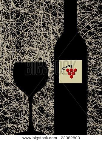 Modern Wine Glass And Bottle Menu Background