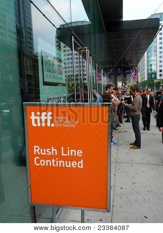 Rush line at Toronto International Film Festival