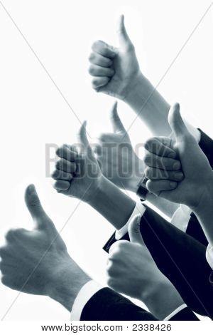 Zeile der Hände