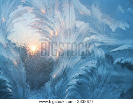 Frosty Natural Pattern And Sun