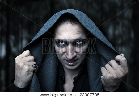 Halloween-Konzept. Geheimnis Evil Eyes