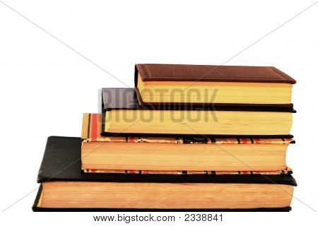 Pile Of Four Old Books