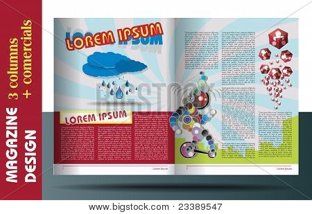 Magazine Layout For Kids Design Template