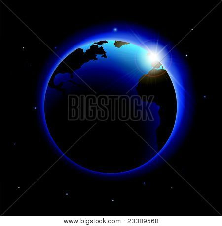 Rising Sun Over The Earth