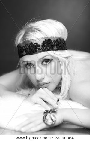 Portrait Of A Beautiful Blonde Model