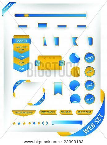 Modern web elements set