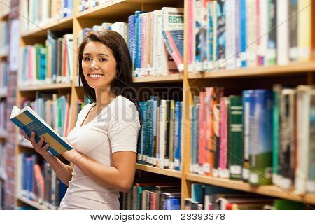Beautiful Student Holding A Book