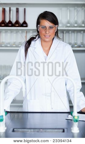 Portrait Of A Female Scientist In A Laboratory