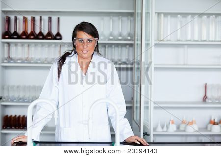 Female Scientist In A Laboratory