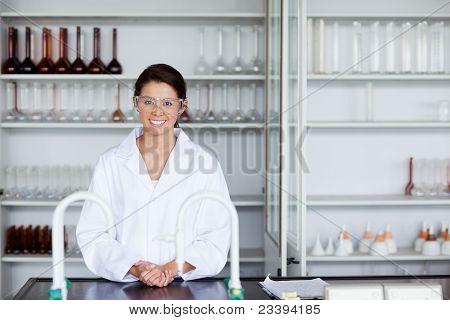 Smiling Scientist Posing
