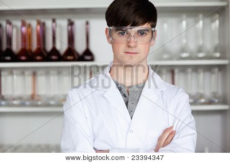 Male Scientist Posing