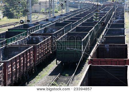 Große Cargo-Bahnhof der Railroad