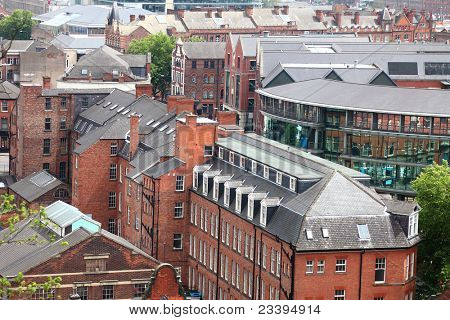 Redbrick architecture of Nottingham, uk