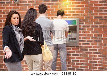 Impatient Woman Queuing