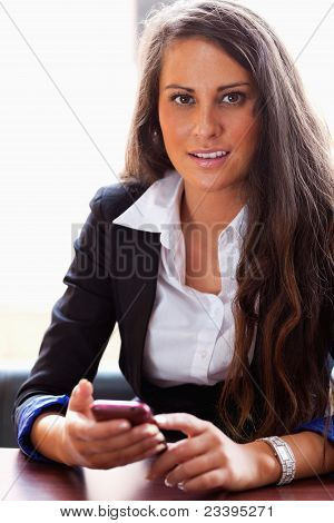 Businesswoman With A Smartphone