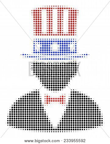 Poster: American Uncle Sam Halftone Vector