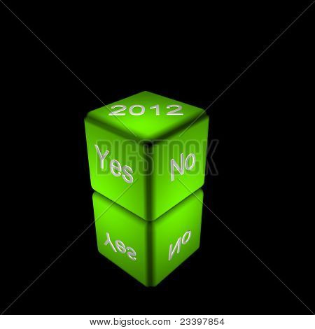 green yes no dice