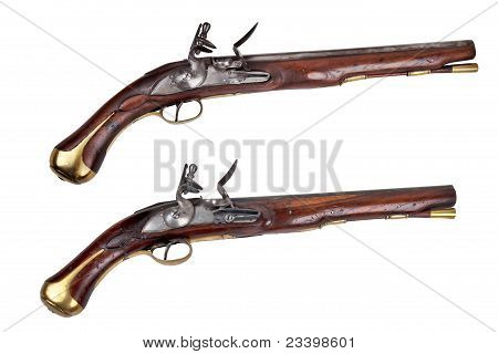 A pair of dragoon pistols