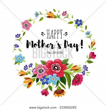 Happy Mothers Day Card With