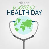 World Health Day Concept. 7 April 2018. Medicine And Healthcare Image. Editable Vector Illustration  poster