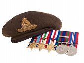 World War II Soldier's Beret And Medals Made In Canada
