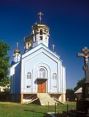 picture of zakarpattia  - Not finished construction of the orthodox church in Tyachiv Zakarpattia Ukraine - JPG