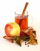 picture of cider apples  - Mug of apple cider with cinnamon stick - JPG