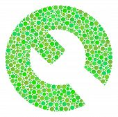 Wrench Composition Of Filled Circles In Variable Sizes And Fresh Green Shades. Vector Circle Element poster