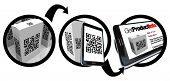 pic of barcode  - A diagram showing instructions on how to scan a QR code to get information on a product using a device such as a smart phone - JPG
