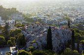 Areopagus In Athens ,greece, The Areopagus At Sunset, The People At The Areopagus, The People On The poster