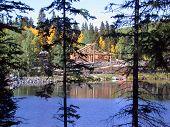 Building Log Lodge At Mesa Lakes poster