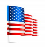 foto of waving american flag  - Vector  - JPG