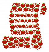 Script Roll Composition Of Tomatoes In Various Sizes. Vector Tomato Items Are United Into Script Rol poster