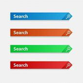 Set Of Search Bands. Color Search Lines. Elements Of The Search Service. Vector Strip For Informatio poster