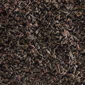 Dark Loose Leaf Tea Background, Black Golden Leaves Blend Texture Pattern Closeup Detail, Large Deta poster