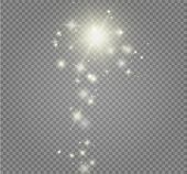 Stardust White Glitter.sparkle Glowing Stardust. Magic Sparkling Particles Light Effect. Vector Illu poster