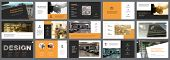 Orange, White And Black Infographic Design Elements For Presentation Slide Templates. Business And M poster