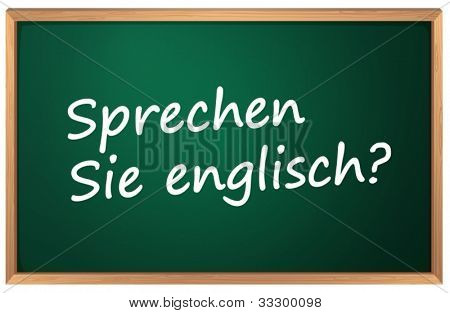 Illustration of German English sign