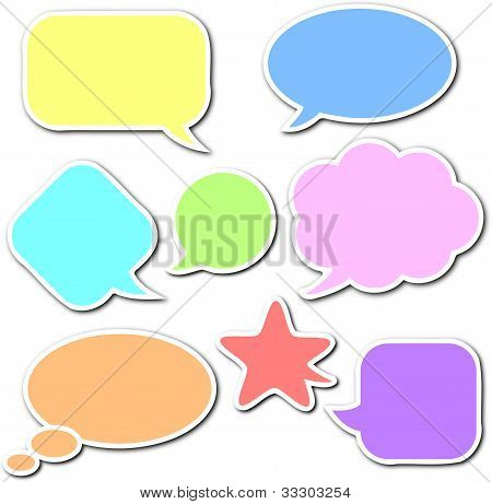 Comic Speech Bubbles Set