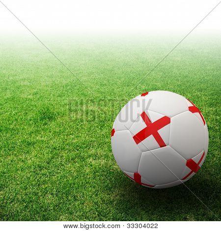 Europe flag on 3d football