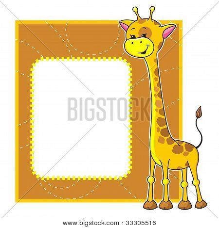 frame with giraffe