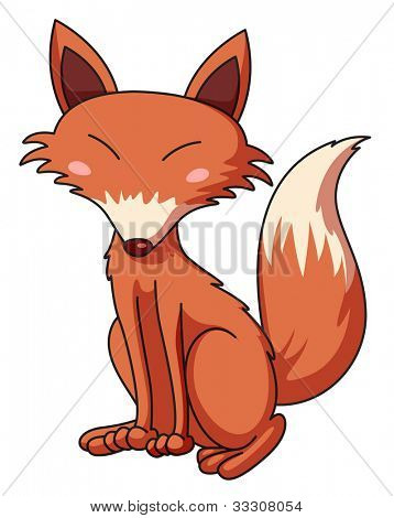 Illustration of a cunning fox - EPS VECTOR format also available in my portfolio.
